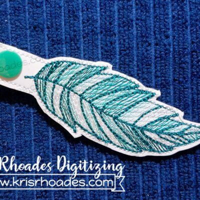 Feather Mylar Keyfob Embroidery Design