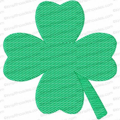4 Leaf Clover Mylar Embroidery Design