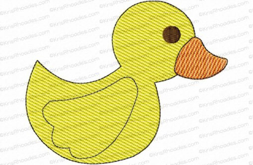 Rubber Duck Mylar Embroidery Design