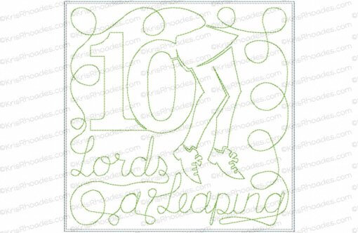rhoades_10 lords a leaping 7x7 single