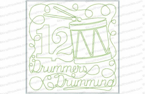 rhoades_12 drummers drumming 6x6 single