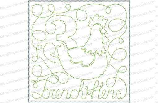 rhoades_3 french hens 6x6 single