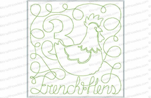rhoades_3 french hens 6x6 triple