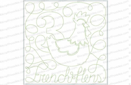rhoades_3 french hens 8x8 single