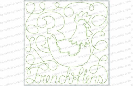 rhoades_3 french hens 8x8 triple