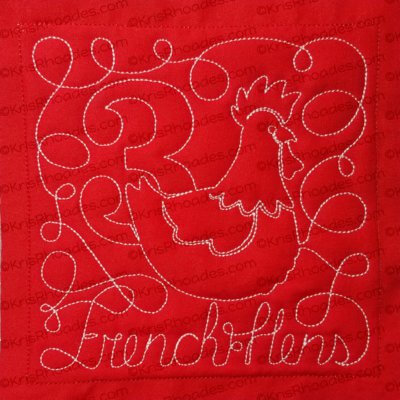 rhoades_3 french hens block