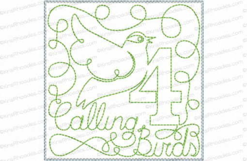 rhoades_4 calling birds 4x4 single