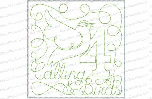 rhoades_4 calling birds 6x6 single