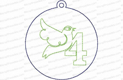 rhoades_4 calling birds ornament