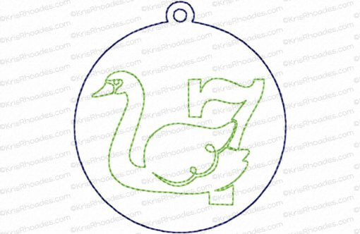 12 Days of Christmas Quilt Block #7 Embroidery Design