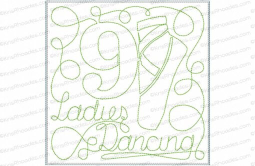 rhoades_9 ladies dancing 6x6 single