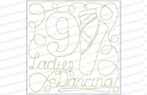 rhoades_9 ladies dancing 7x7 single