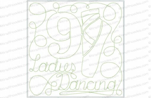 rhoades_9 ladies dancing 8x8 single