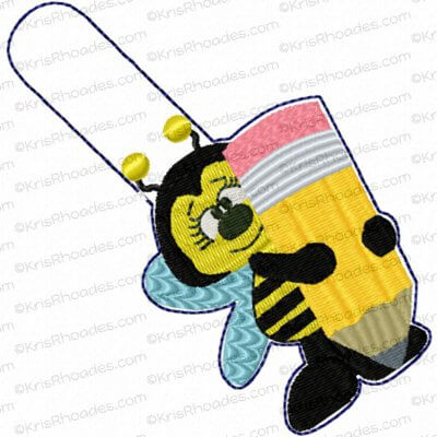 rhoades_key fob school bee with pencil