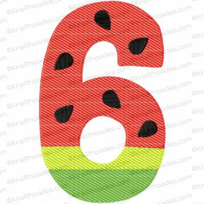 rhoades_mylar 6 watermelon number 5x7