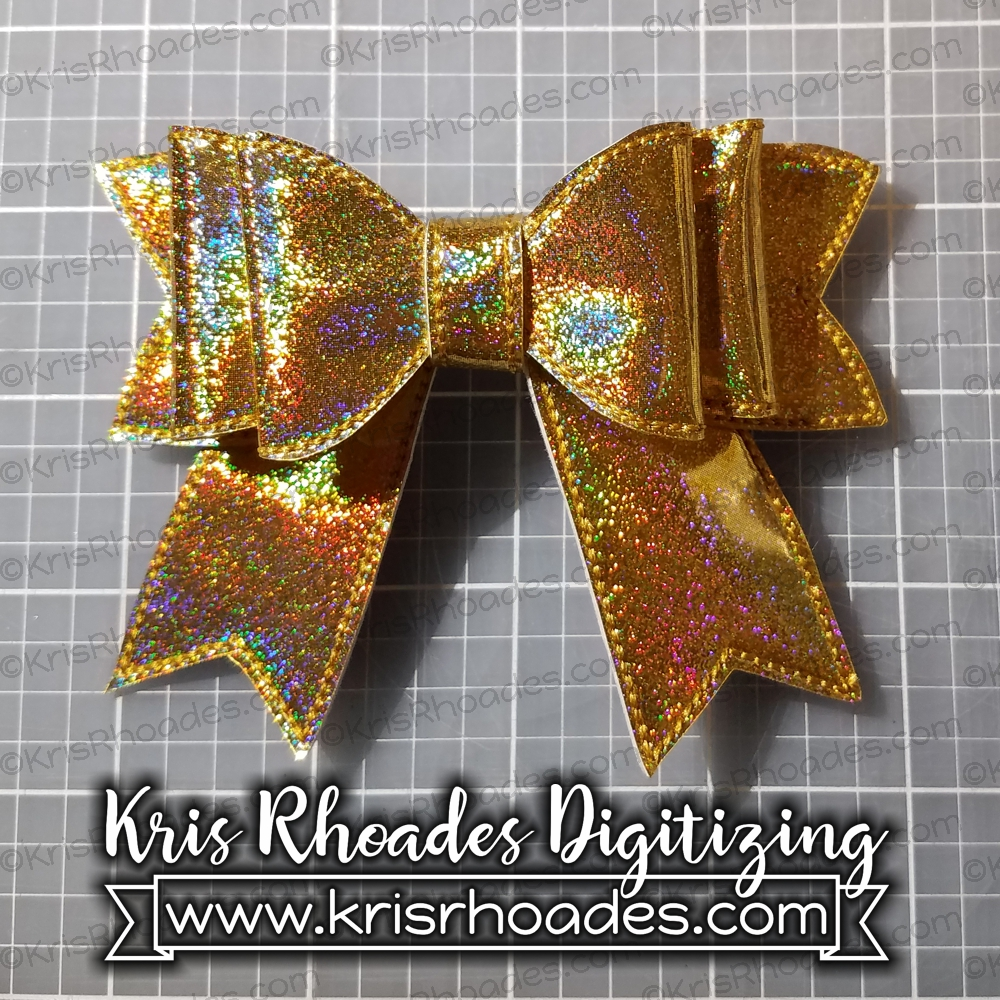 Basic Vinyl Bow Ith Embroidery Design Kris Rhoades