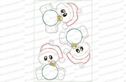 rhoades_babys christmas ornament plain 5x7