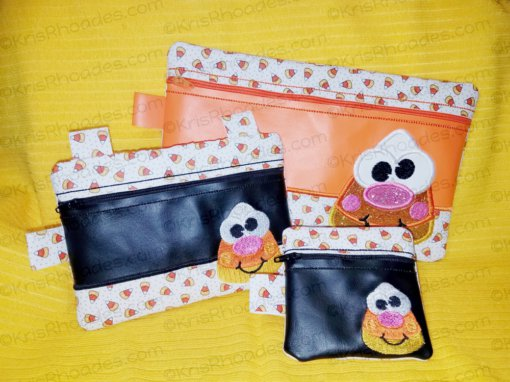 kris-candy corn pouch all