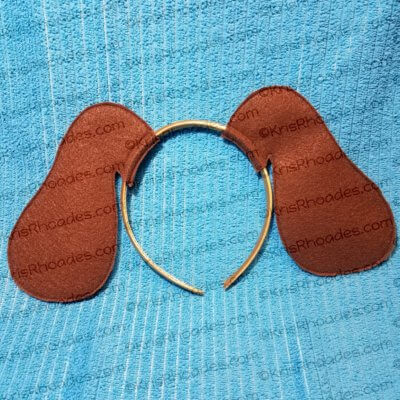kris-dog ears brown felt