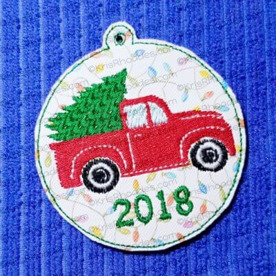 vintage truck ornament filled