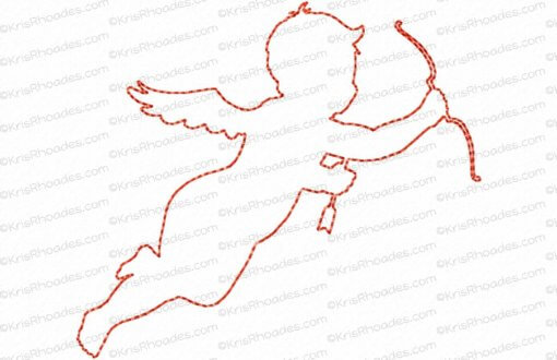 rhoades_cupid 1 silhouette outline 4x4