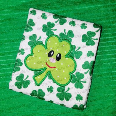 kris-towel - shamrock with face