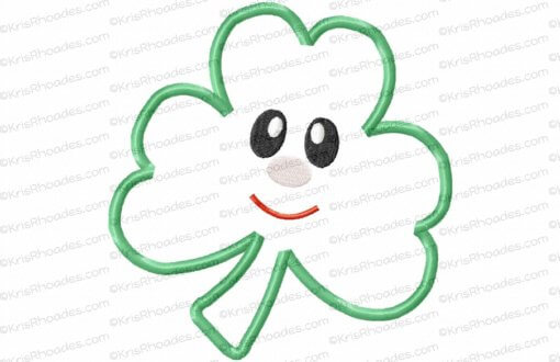rhoades_shamrock with face applique 6x6
