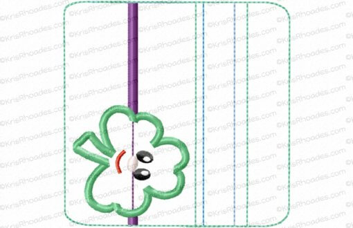 rhoades_4x4 hz zipper pouch unlined shamrock wo tabs