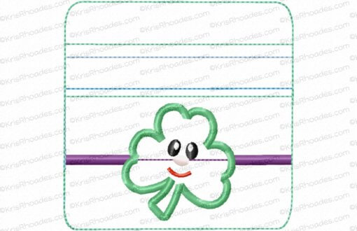 rhoades_4x4 zipper pouch shamrock vertical unlined wo tabs