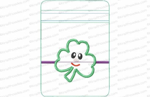 rhoades_5x7 vertical zipper pouch unlined shamrock