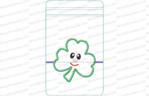 rhoades_6x10 horizontal zipper pouch unlined shamrock