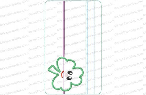 rhoades_6x10 horizontal zipper pouch unlined shamrock app