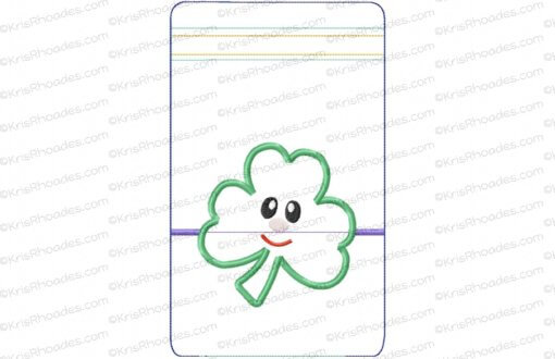 rhoades_6x10 zipper pouch shamrock vertical lined