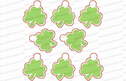 rhoades_shamrock charm 1 inch 8 up on 4x4