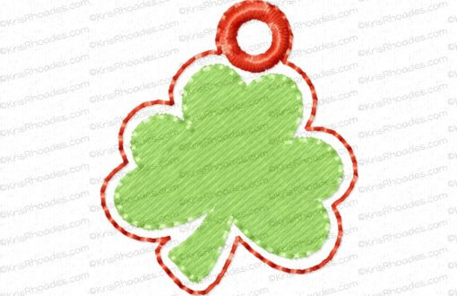 rhoades_shamrock charm 1 inch with hole