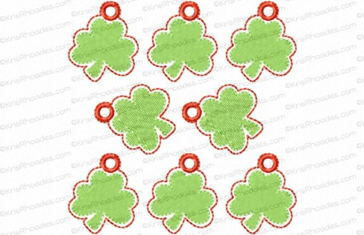 rhoades_shamrock charm 1 inch with hole 8 up on 4x4