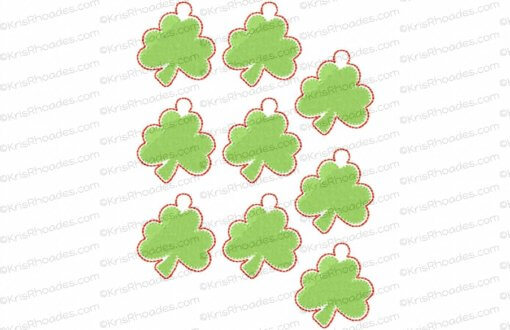 rhoades_shamrock charm 1half inch 9up on 5x7