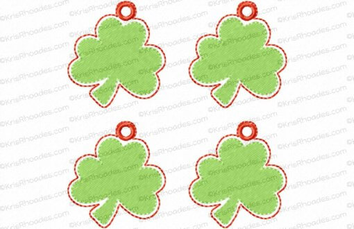 rhoades_shamrock charm 1half inch with hole 4up on 4x4
