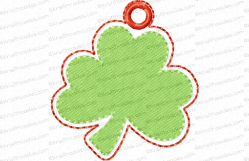rhoades_shamrock charm 1half inch with hole