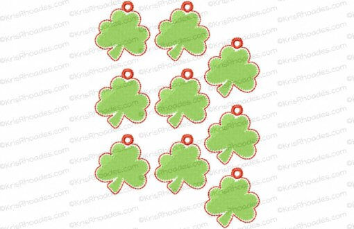 rhoades_shamrock charm 1half inch with hole 9up on 5x7