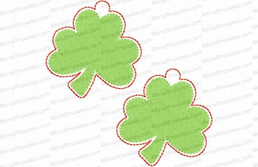 rhoades_shamrock charm 2 inch 2 up on 4x4