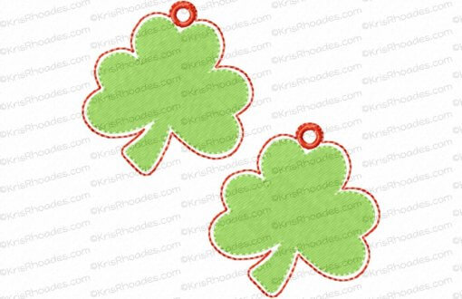rhoades_shamrock charm 2 inch with hole 2 up on 4x4