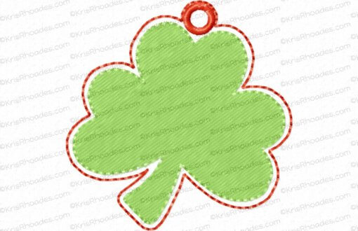 rhoades_shamrock charm 2 inch with hole