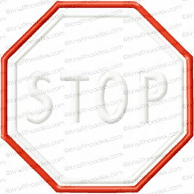 rhoades_stop sign 5 inch applique
