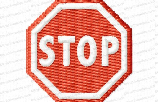 rhoades_stop sign no post 1 inch filled