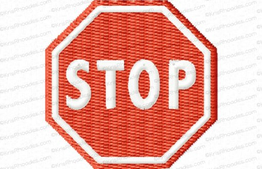 rhoades_stop sign no post 1half inch filled