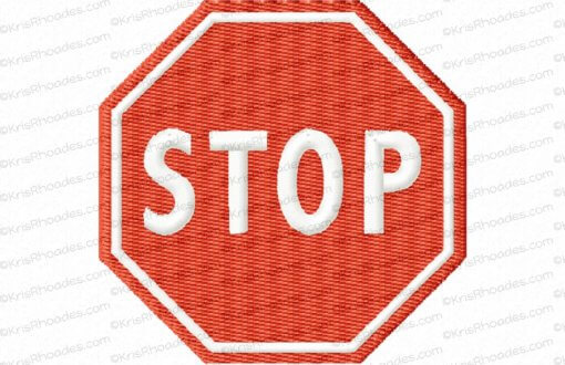 rhoades_stop sign no post 2half inch filled