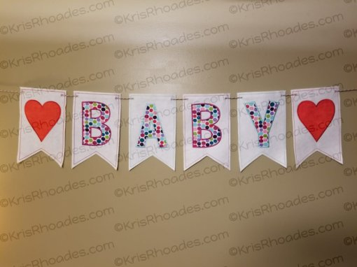00 banner font baby