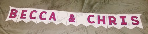 00 banner font becca and chris