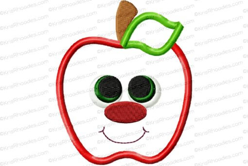 rhoades_apple applique with face 4x4